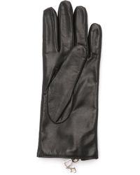 Diane von Furstenberg - Zip Leather Gloves - Lyst