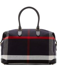 Burberry - Navy Canvas Kingswood Travel Bag - Lyst