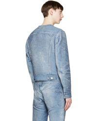 CALVIN KLEIN 205W39NYC - Blue Denim Pullover - Lyst