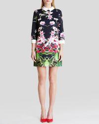 Ted Baker Dress - Youma Mirrored Tropics - Lyst