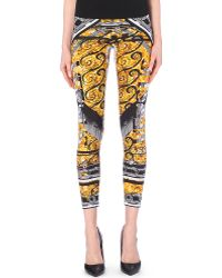 Versus  Printed Stretch-Jersey Leggings - For Women - Lyst