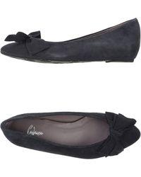 Castaner Gray Ballet Flats - Lyst