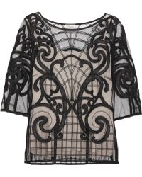 Temperley London Catroux Embroidered Tulle Top - Lyst