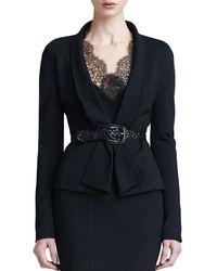 Donna Karan New York Draped Lapel Jacket - Lyst