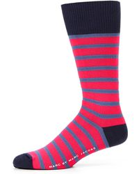Marc By Marc Jacobs - Striped Cotton-Blend Socks - Lyst