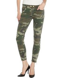 Textile Elizabeth and James Olca Camo Denim Cropped 'Cooper' Jeans green - Lyst