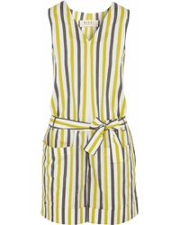 Marni - Infinite Lines Striped Cotton Playsuit - Lyst