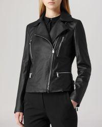 Reiss - Jacket - Flutter Interest Leather Biker - Lyst
