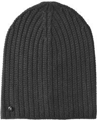 Zadig & Voltaire - Zadig & Voltaire Ribbed Cashmere Hat - Black - Lyst