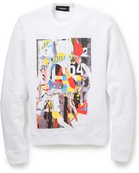 DSquared2 Collage Print Pullover - Lyst