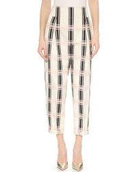Temperley London Pebble Check Trousers - Pink Mix - Lyst