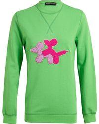 Ostwald Helgason   Puppy Love Appliqued Cotton Sweatshirt   Lyst