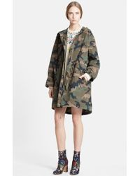 Valentino Peace Embroidered Camo Print Anorak - Lyst