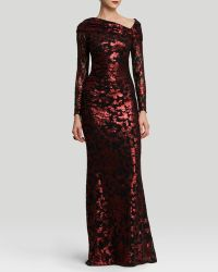 Badgley Mischka Gown  Sequin Lace - Lyst