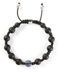 Shamballa Jewels Diamond Embellished Detail Bracelet - Lyst