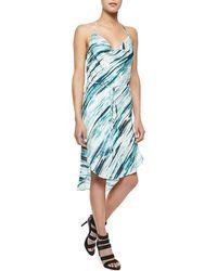 Haute Hippie Scarface Printed Tie-waist Dress - Lyst