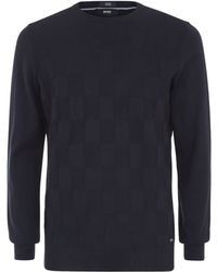Boss Black Teodoro Cotton Sweater - Lyst
