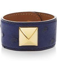Heritage Auctions Special Collection Hermes Blue Saphir Ostrich Medor Bracelet - Lyst