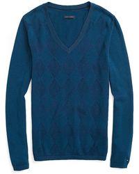 Tommy Hilfiger Tonal Argyle Sweater - Lyst
