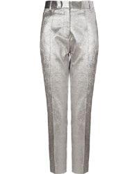 Ellery Silver Lamé Windsor Trousers - Lyst