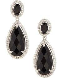 Judith Ripka - Legacy Onyx & Sapphire Drop Earrings - Lyst