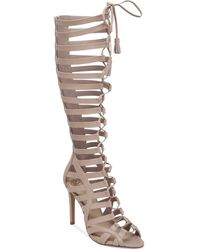 Vince Camuto Olivian Tall Lace-Up Gladiator Sandals - Lyst