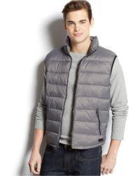 Calvin Klein Packable Puffer Vest gray - Lyst