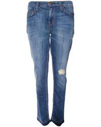 Current/Elliott Jodie Cropped Straight Jean - Lyst