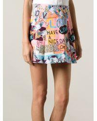 Markus Lupfer Pigeon Love Printed Skirt - Lyst