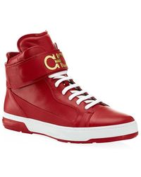 Ferragamo Night High Top Sneakers - Lyst