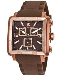 Ted Lapidus - Men's Chronograph Brown Silicone Brown Dial - Lyst