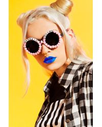 Rad & Refined - Mermaid Dreams Bead & Rose Sunglasses - Lyst