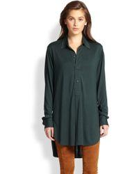 Ralph Lauren Blue Label | Silk Jersey Tunic | Lyst