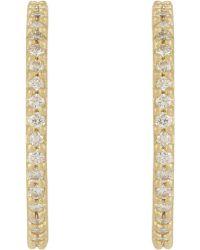 Tate - Diamond Hoop Earrings - Lyst