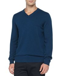 Vince Cashmere V-Neck Pullover Sweater - Lyst