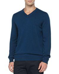 Vince Cashmere V-Neck Pullover Sweater - Lyst