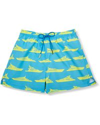 Glass Mens Blue Swimsuit with Large Yellow Yachts - Lyst