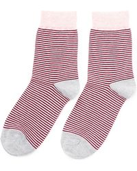Etiquette - Thousand Stripes Socks - Lyst