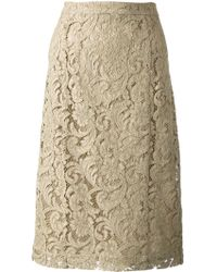 Burberry Embroidered Lace Skirt - Lyst