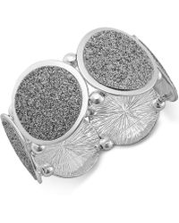 Style & Co. - Glitter Oval Stretch Bracelet - Lyst