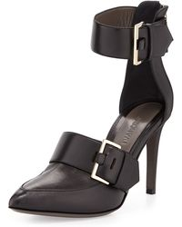 Jason Wu Pointed-Toe Double-Buckle Pumps - Lyst
