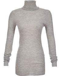 ATM Long Sleeve Cashmere Turtleneck Sweater - Lyst