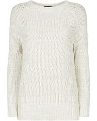 Vince Chunky Mesh Crew Neck Sweater - Lyst