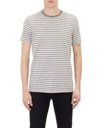 Vince Gray Striped T-shirt - Lyst