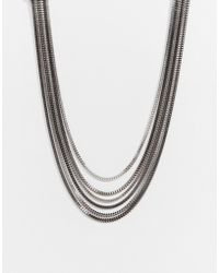 Lipsy - Fleur East By Multirow Box Chain Necklace - Lyst