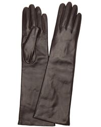 Portolano | Brown Cashmere Lined Leather Gloves | Lyst