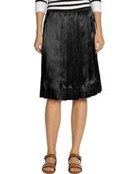 Marc Jacobs Pleated Satin Skirt - Lyst