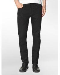 Calvin Klein Jeans Slim Leg Black Wash Jeans - Lyst