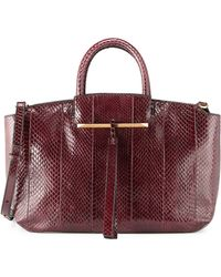 B Brian Atwood Gena East-west Snake Tote Bag - Lyst