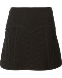 Roberto Cavalli Waffle Weave Short Skirt - Lyst